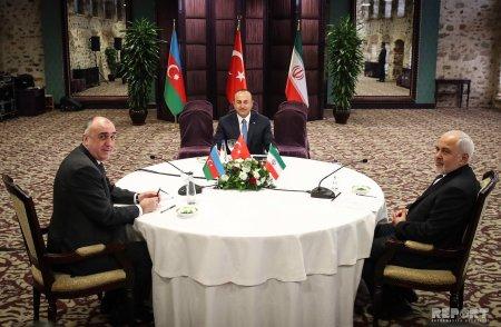 Azərbaycan, İran və Türkiyə XİN başçılarının üçtərəfli görüşünün İstanbul Bəyannaməsi qəbul olunub